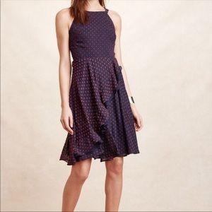 Anthropologie Ruffled Clipdot Dress by Eva Franco